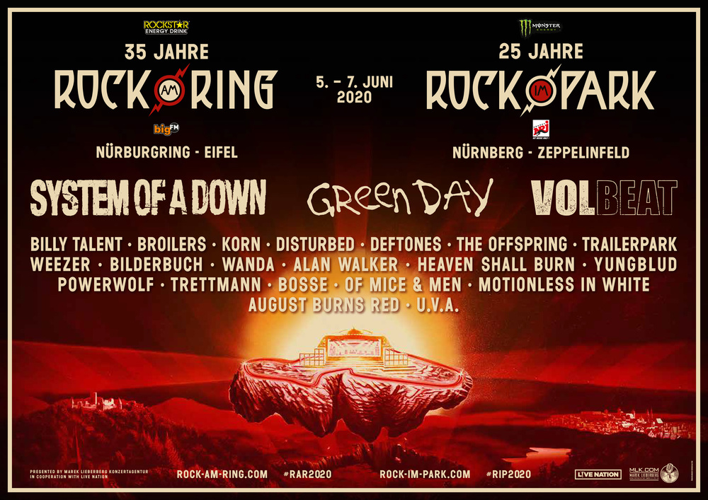 Афиша Rock am Ring 2020